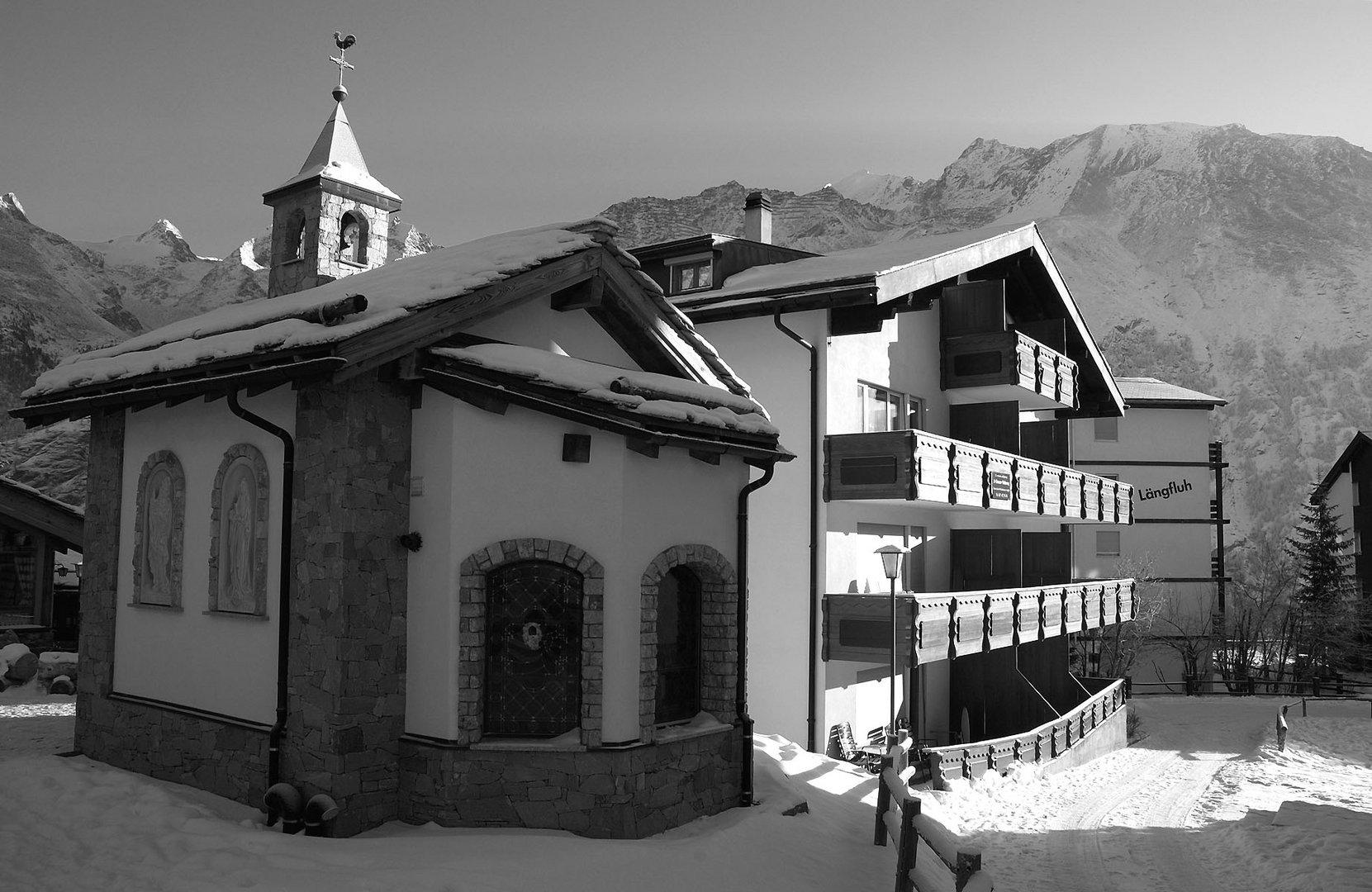 Petite chapelle à Saas-Fee (Suisse)