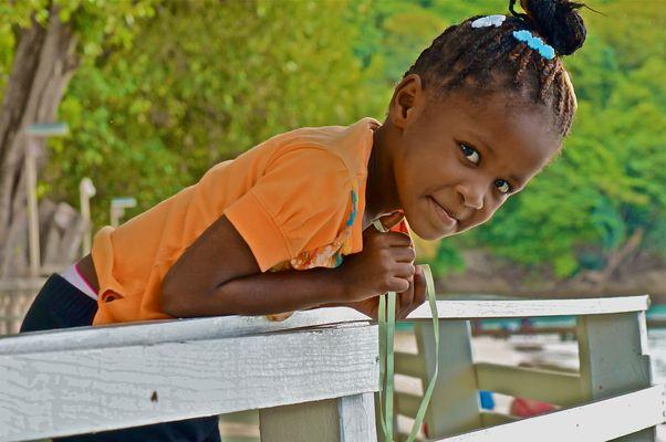 Petite fille de Sainte Lucie