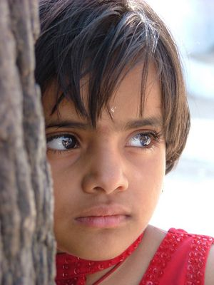 petite fille du rajasthan