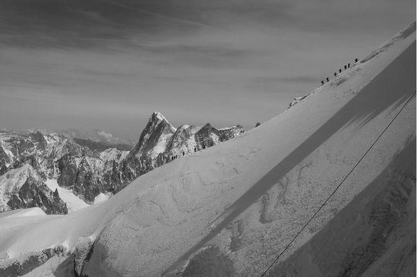 petite grimpe sur le Mont Blanc