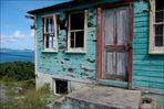 Petite Martinique, Grenada: Verfallende alte Holzhäuser 2008 (1)