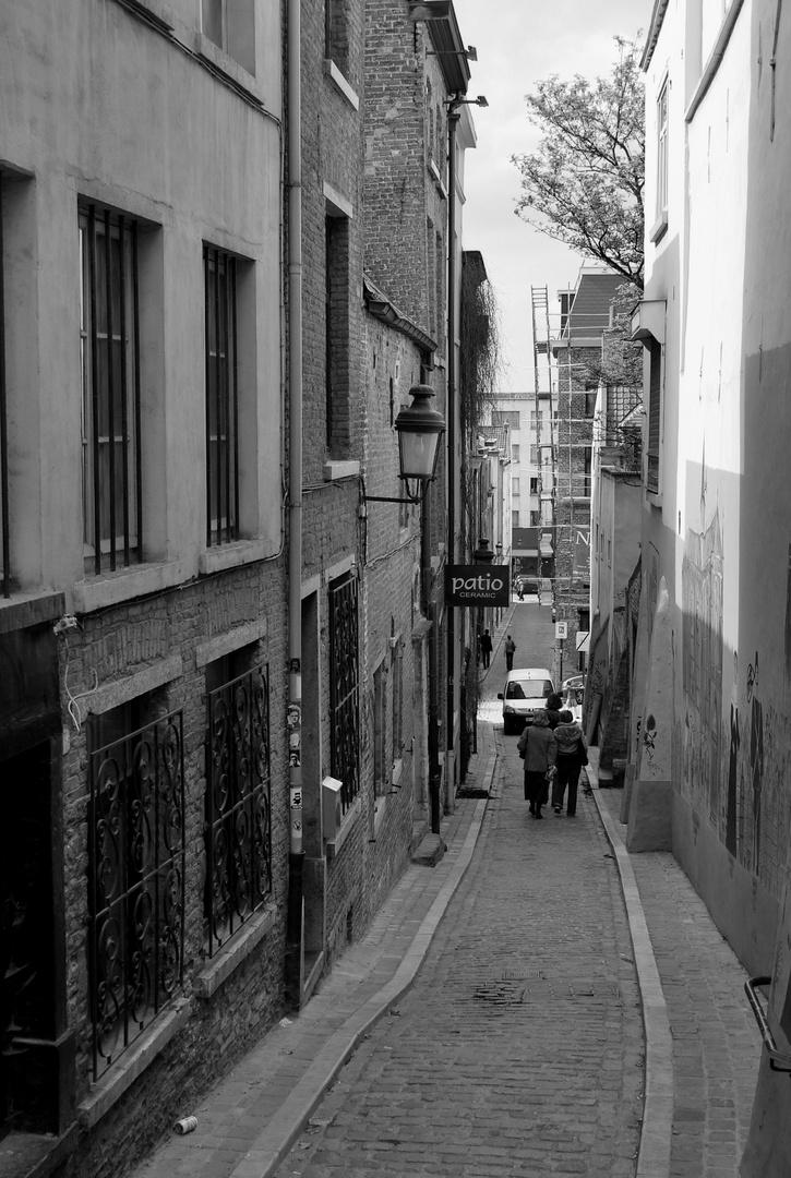 Petite rue près des marolles Bruxelles