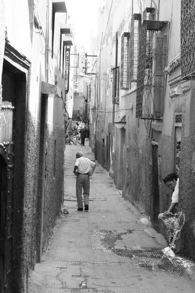 petite ruelle dans marrakech