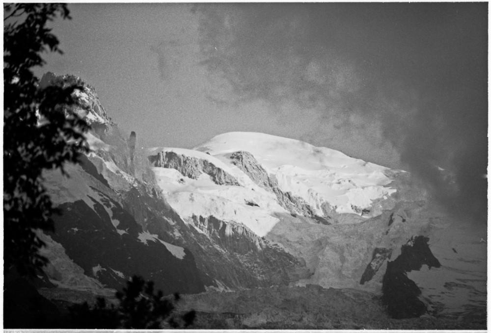 Petite vue du Mont-Blanc
