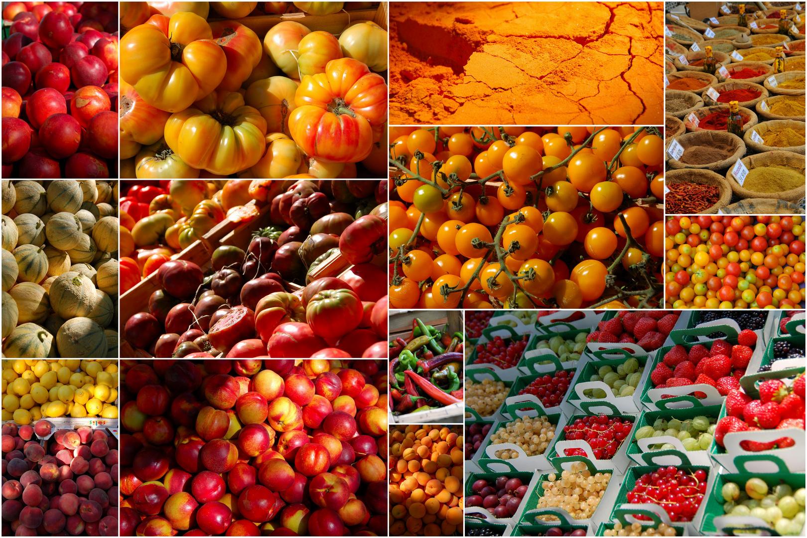 Petits plaisirs gourmands et colorés sur les marchés du sud !!