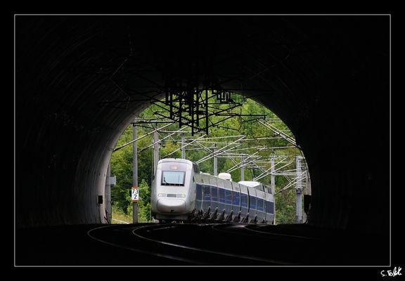 Peu avant le tunnel