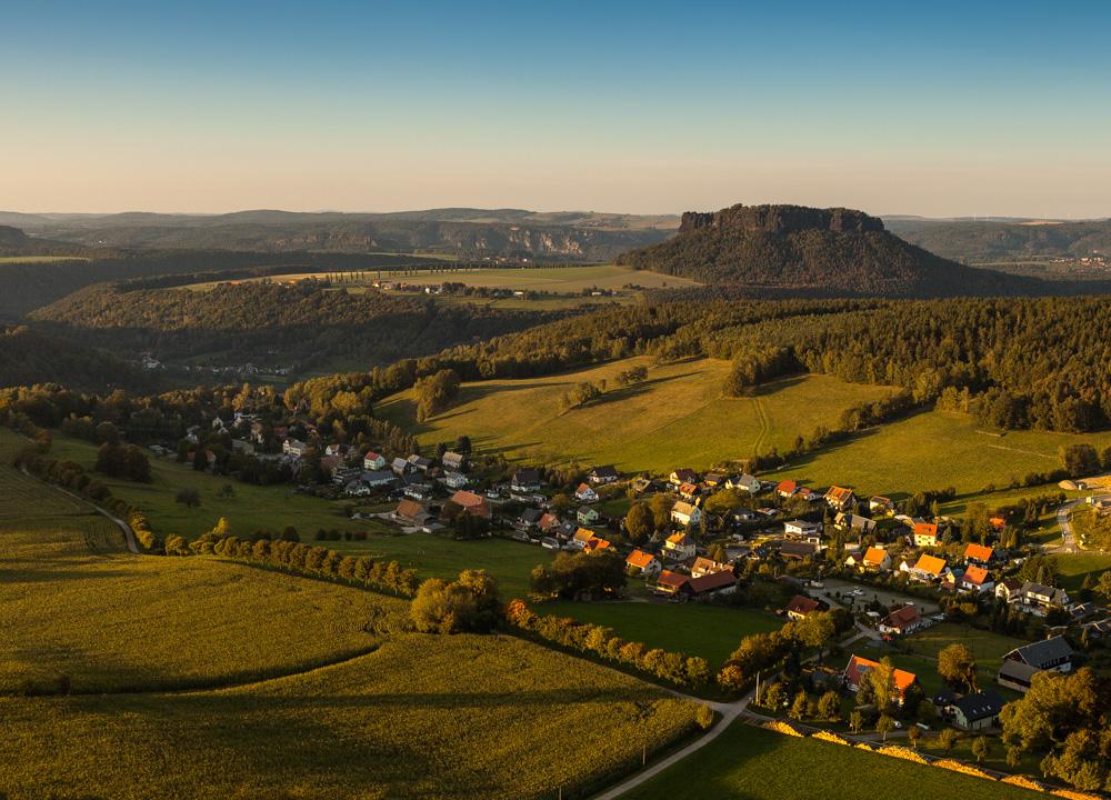 Pfaffendorf vor Sonnenuntergang