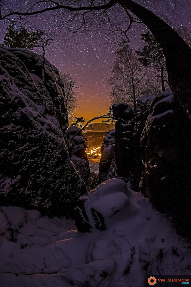 Pfaffenstein bei Nacht