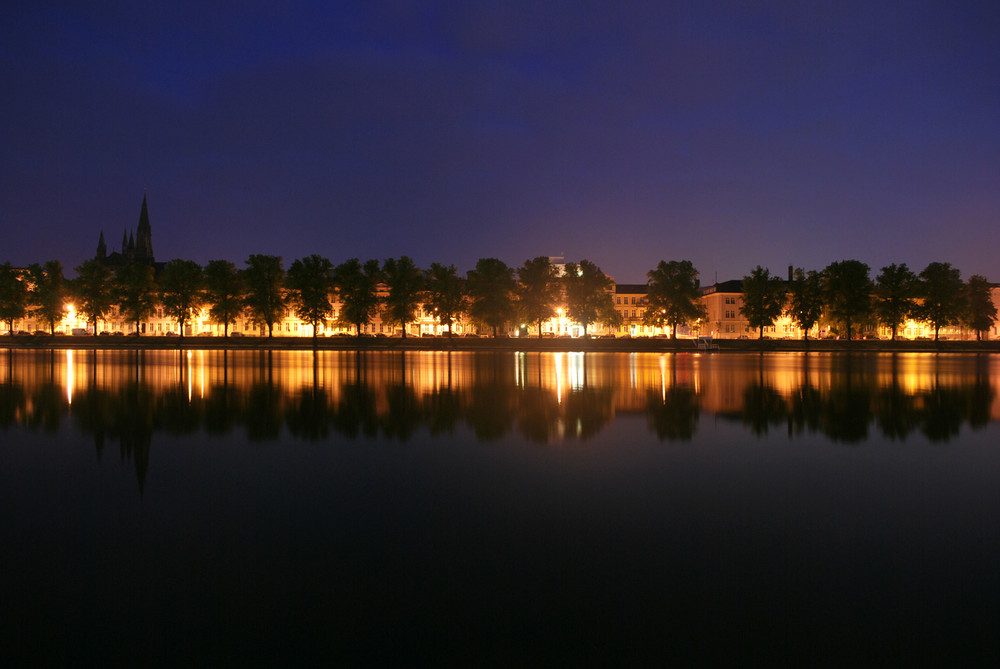 Pfaffenteich bei Nacht