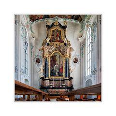 Pfarrkirche St. Johannes Baptist in Bernhardzell, Kanton St.Gallen