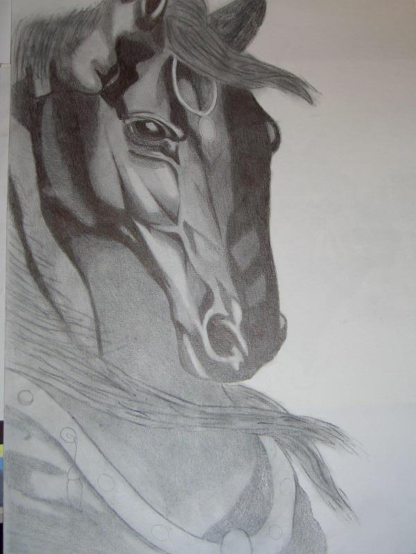 Pferd mit Bleistift