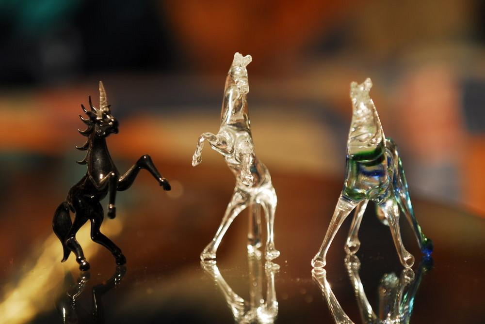 Pferde aus Glas