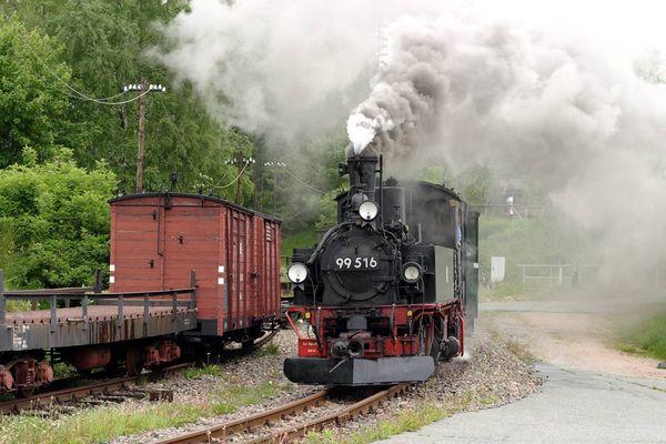 Pfingst-Dampf in Schönheide u. Stützengrün