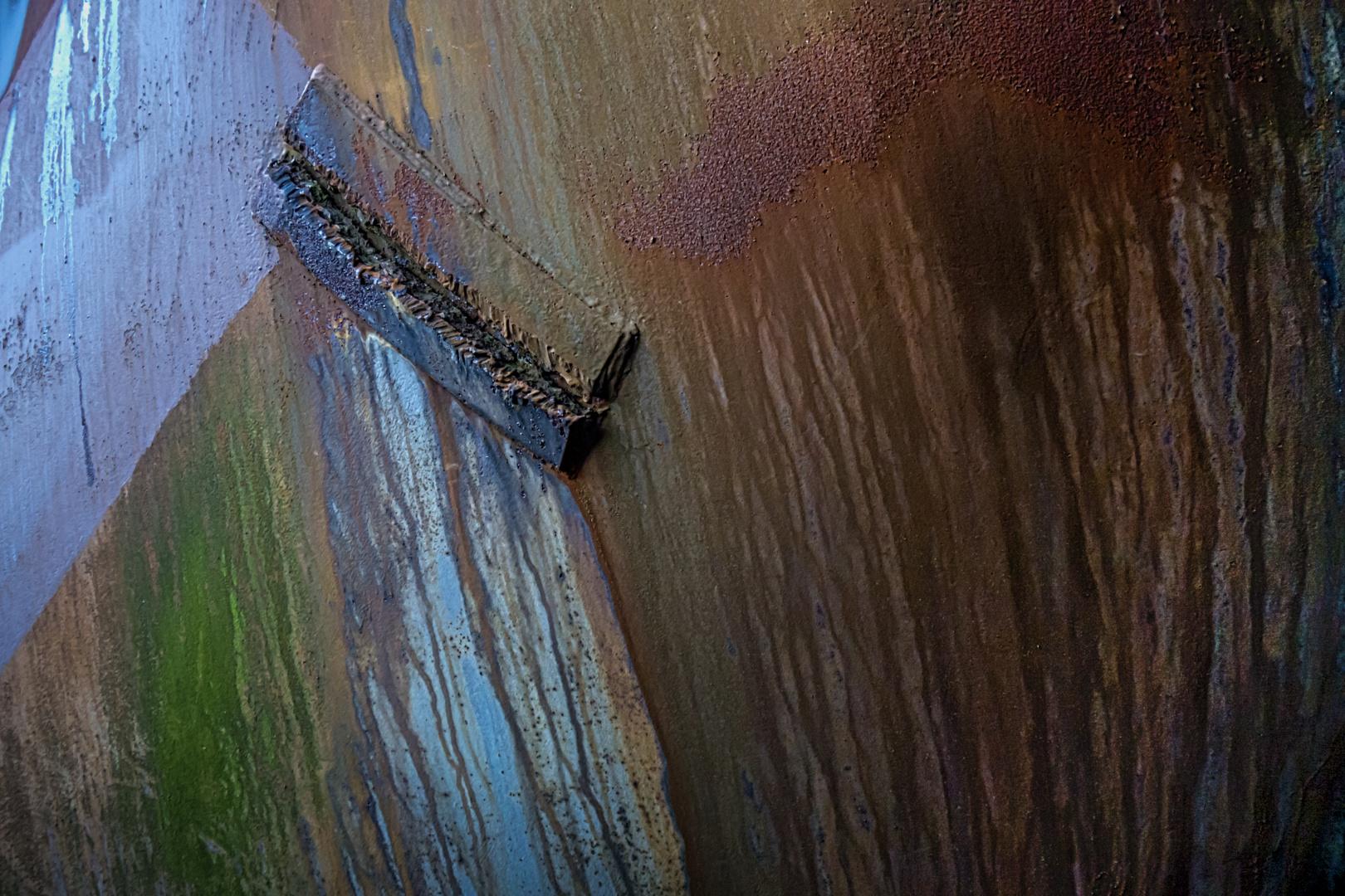 Pflaster auf Stahl
