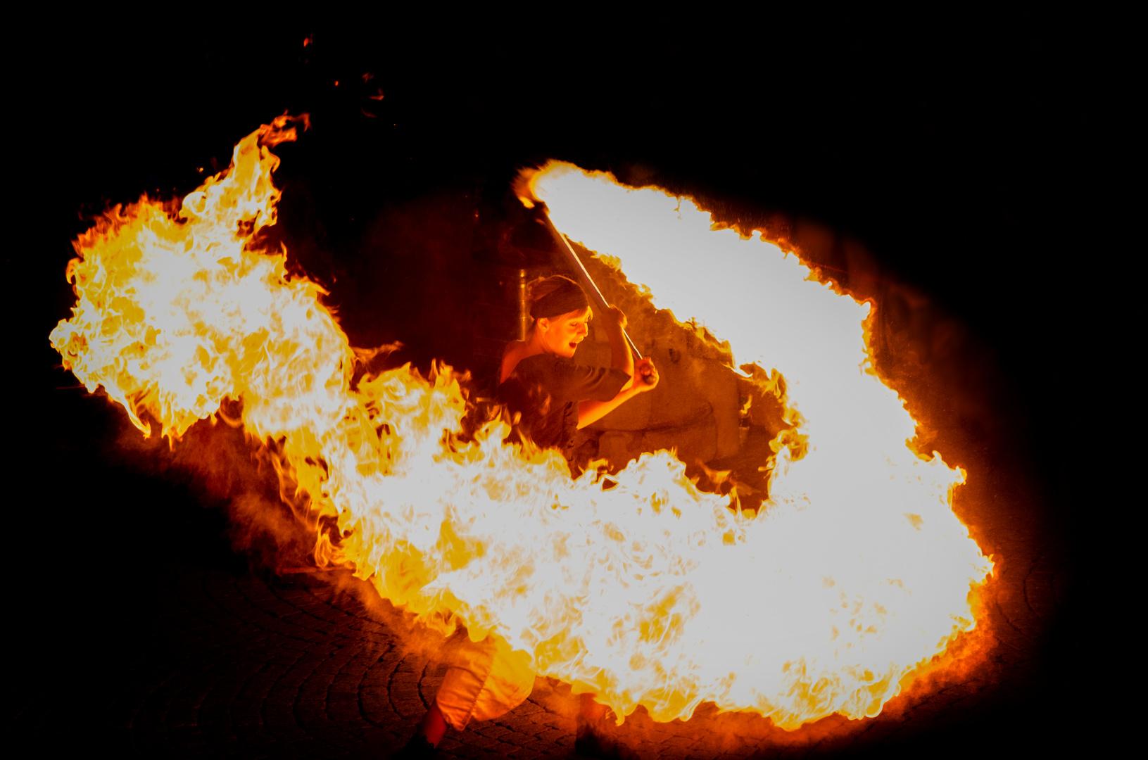 Pflasterzauber Feuershow