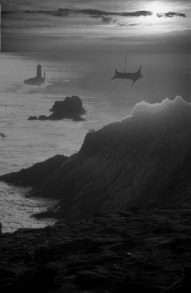 Phantasie in schwarz-weiß