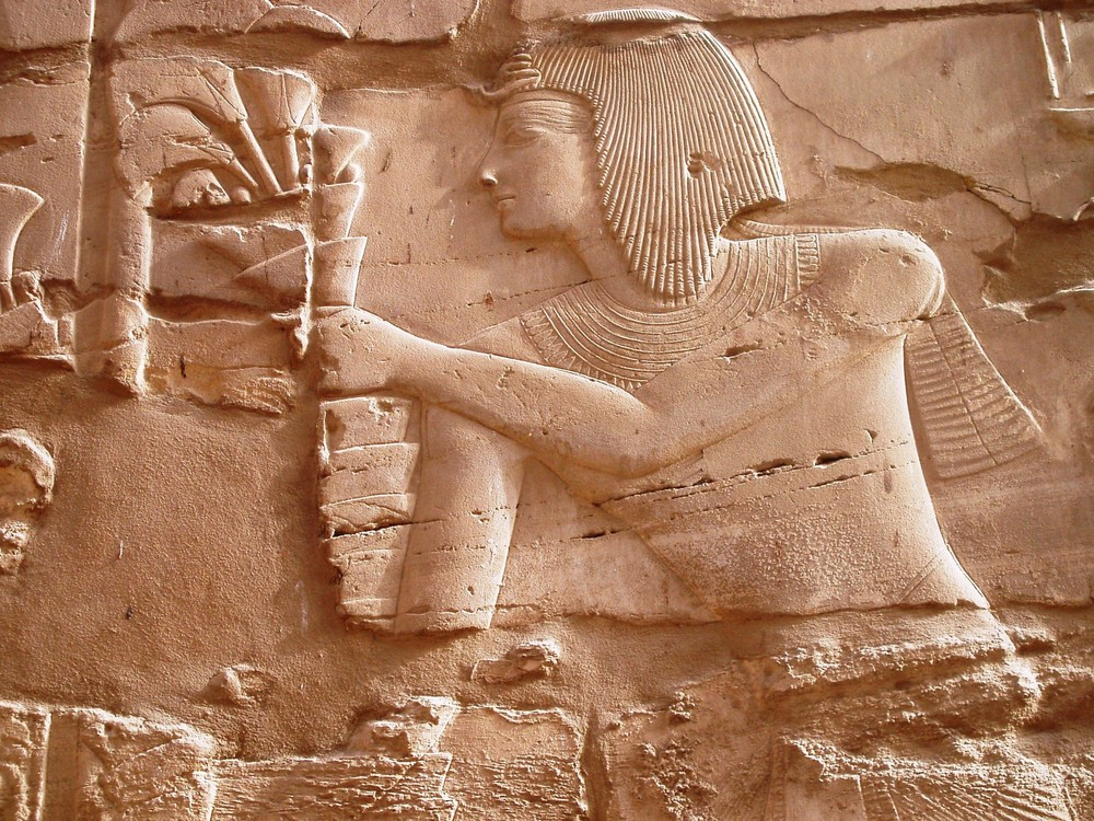 pharaon offre une fleur
