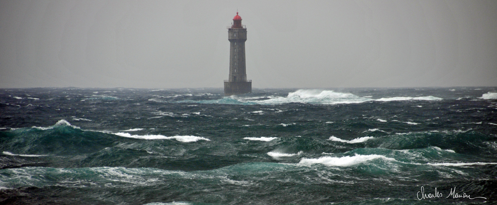 Phare de la Jument dans la tempête - Ouessant