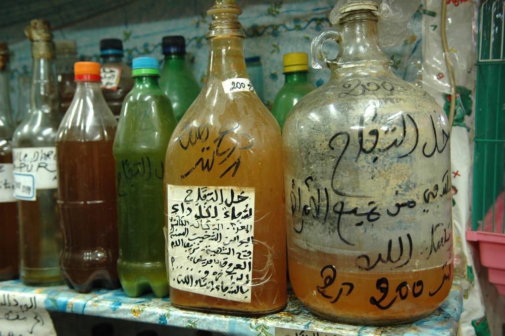 pharmacie dans la Médina . Marrakech .