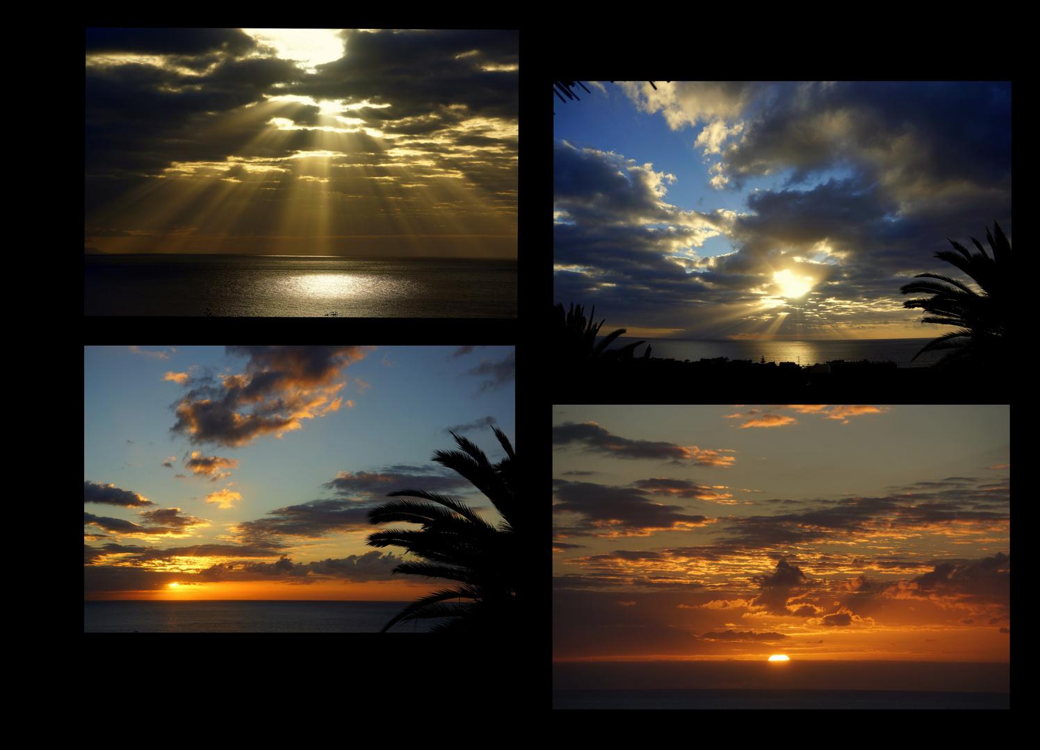 Phasen eines Sonnenunterganges ....