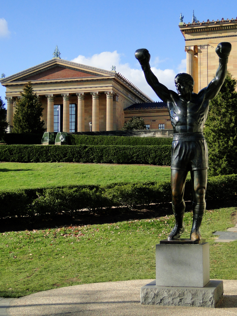 Philadelphia,s Museum of Art & Rocky Balboa's Statue..