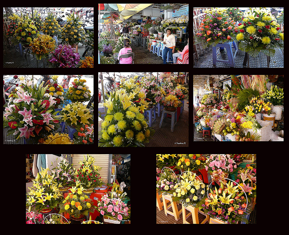 Phnom Penh - Blumenmarkt