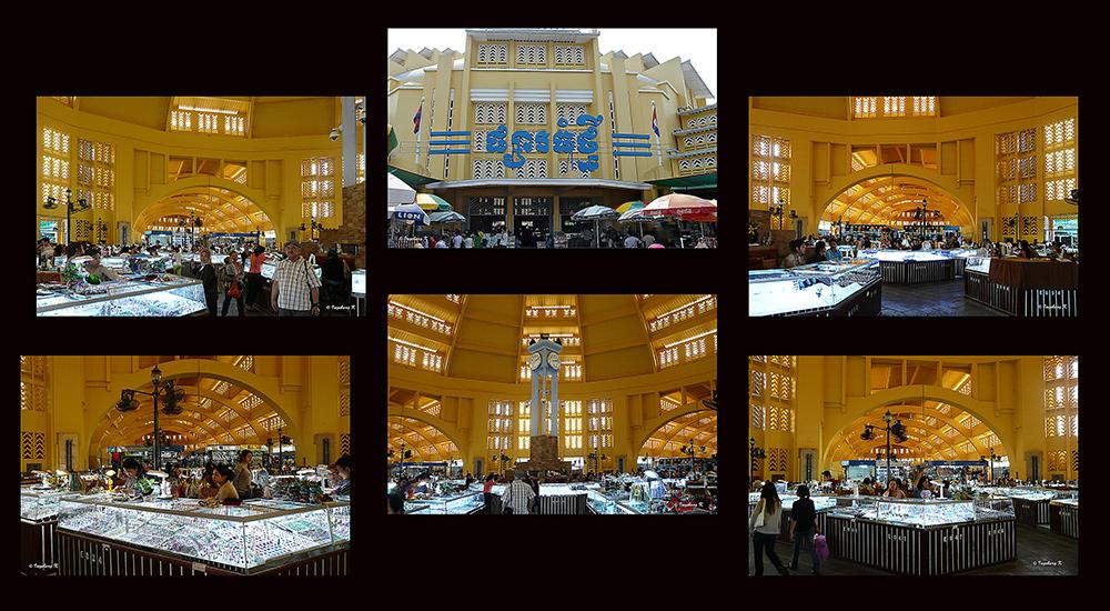 Phnom Penh - Zentralmarkt - Innenansicht