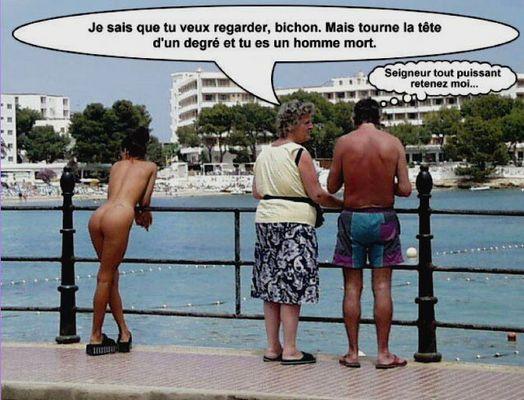 Photo d'humour - De quel droit - aucune loi, interdit de regarder..