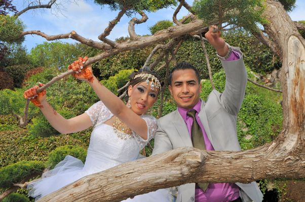 Photo d'un mariage oriental