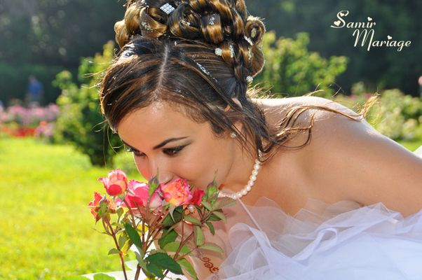Photo d'une jeune mariée pendant son mariage oriental