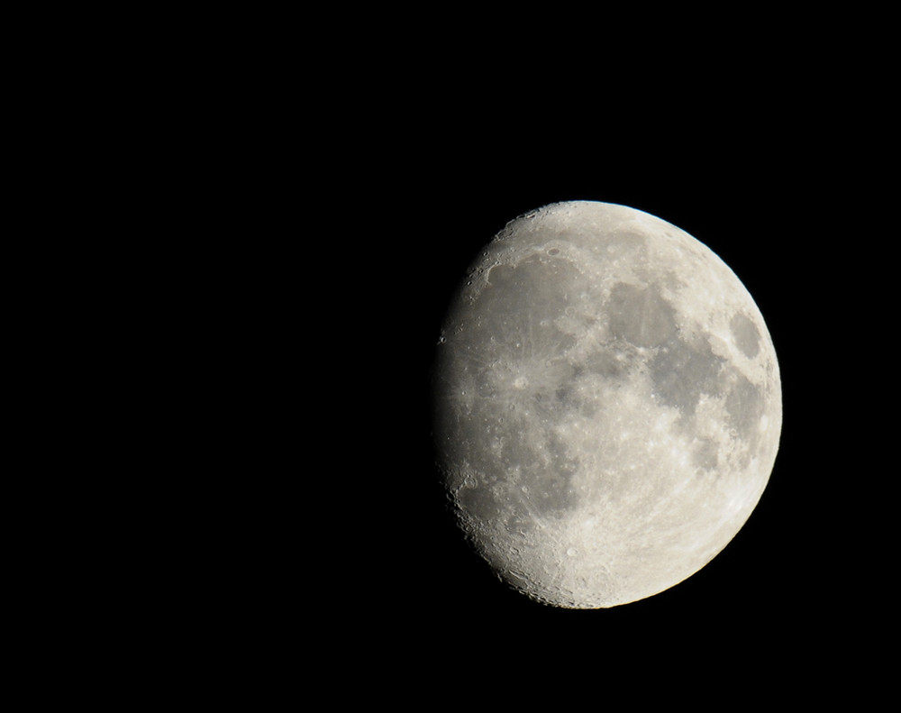 Photo lune au 500 rubinar à miroir F5.6 avec D300