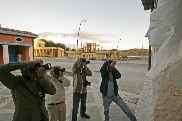 Photographers in action