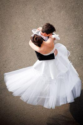 Photographie mariage - Mariés dansant