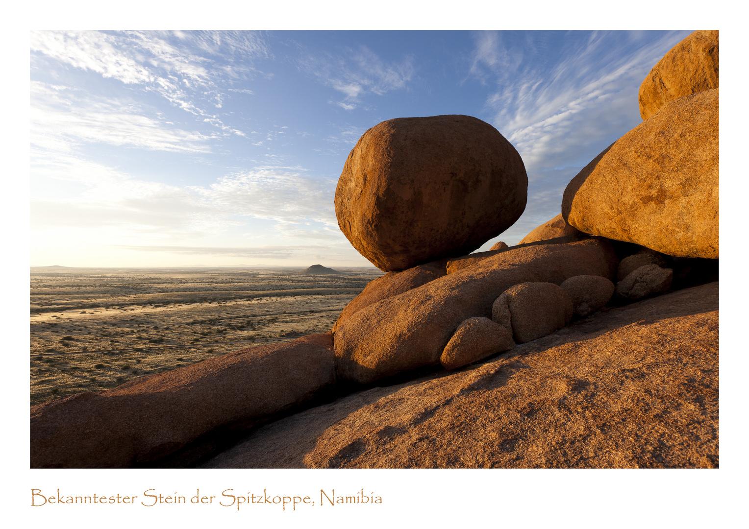 Photomodell im Bushman's Paradise, Spitzkoppe Namibia.