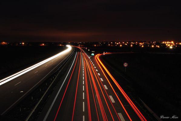 Photos prises au dessus d'une voie rapide