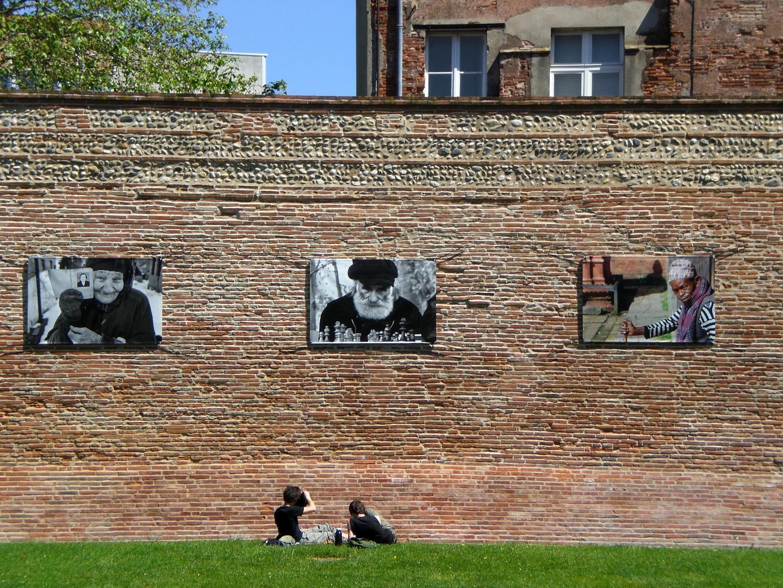 Photos sur mur