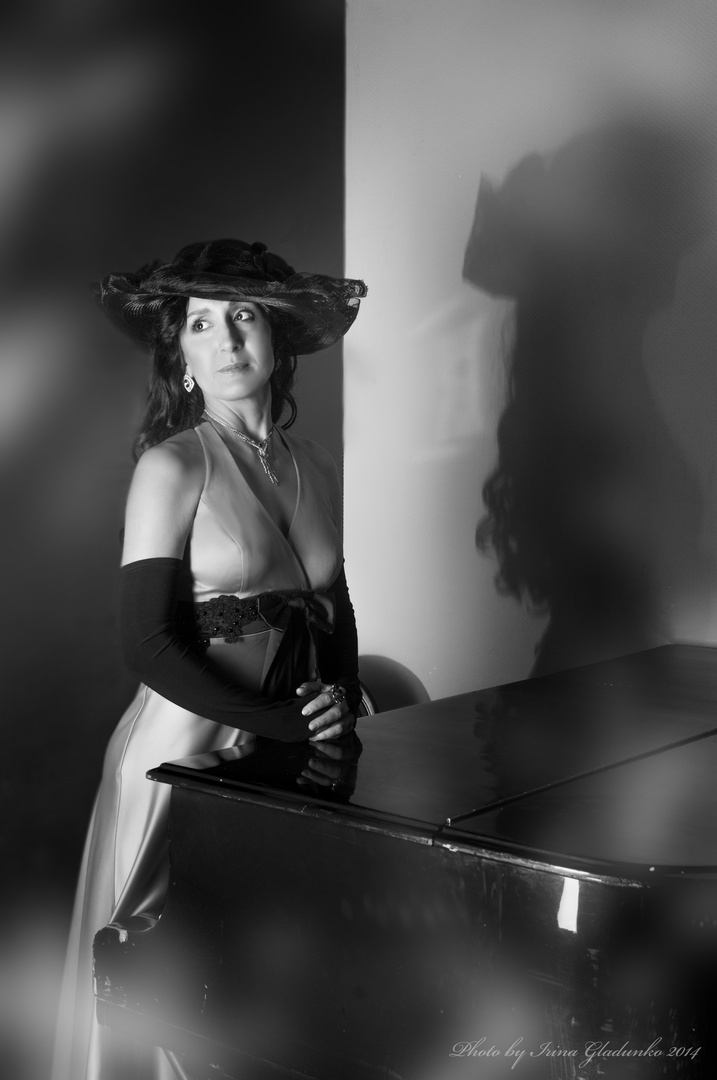 Piano und Schatten