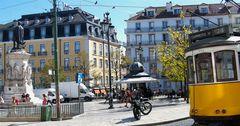 Piazza a Lisbona