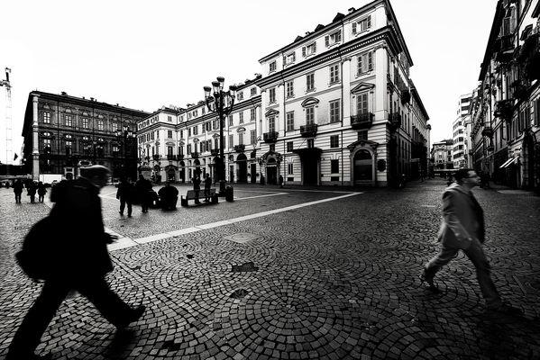 """"""" Piazza Carignano """"  di Luigi Riberi"""