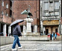 Piazza davanti al Municipio di Oslo