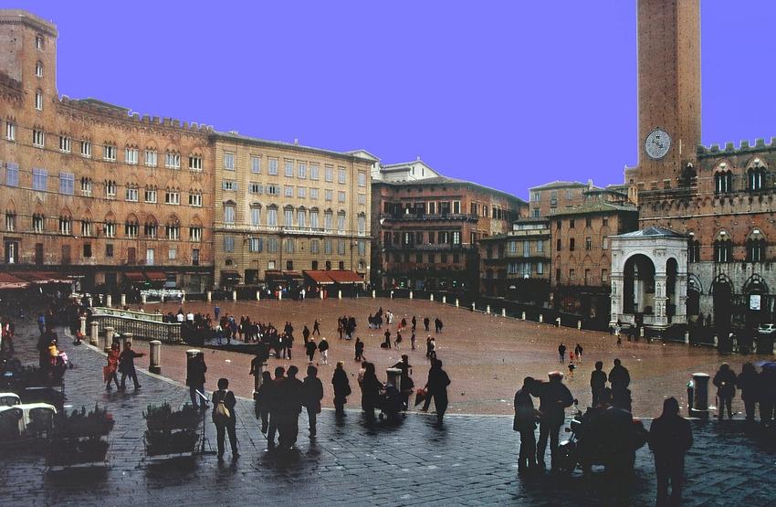 """""""Piazza del Campo"""" in Siena in der Toskana (Reload)"""