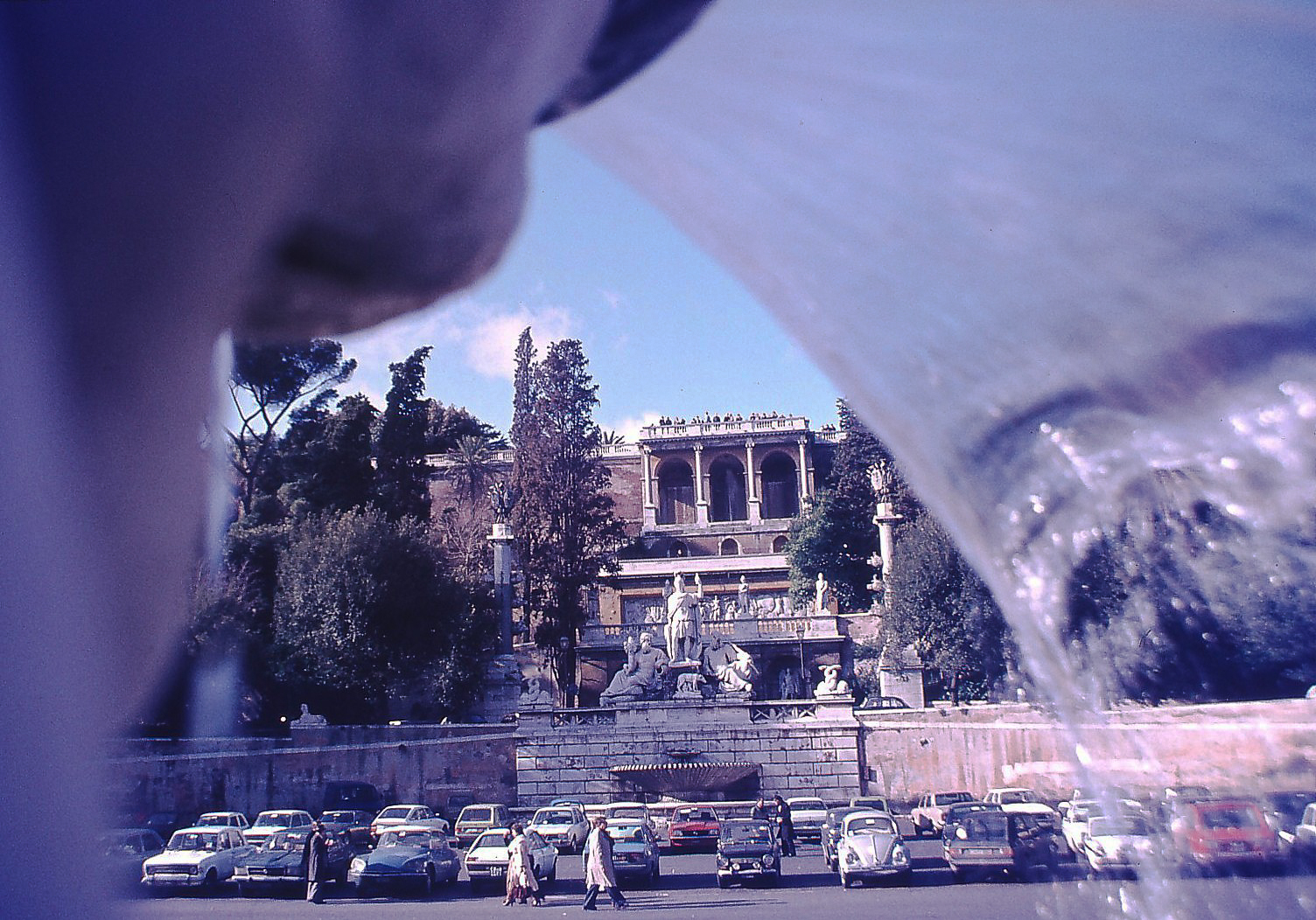 Piazza del Popolo in den Siebzigern
