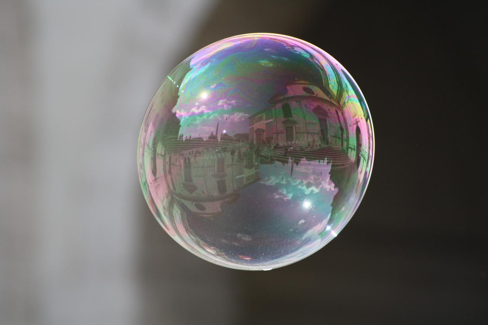 Piazza del Popolo in the bubble