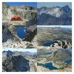 Pic de Néouvielle alt.3091m .Lacs de Capdelong,Aubert,Aumar,Laquettes .