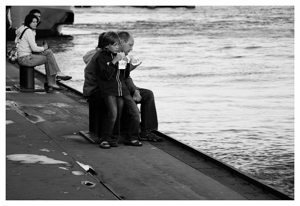 Picnic am Hafen