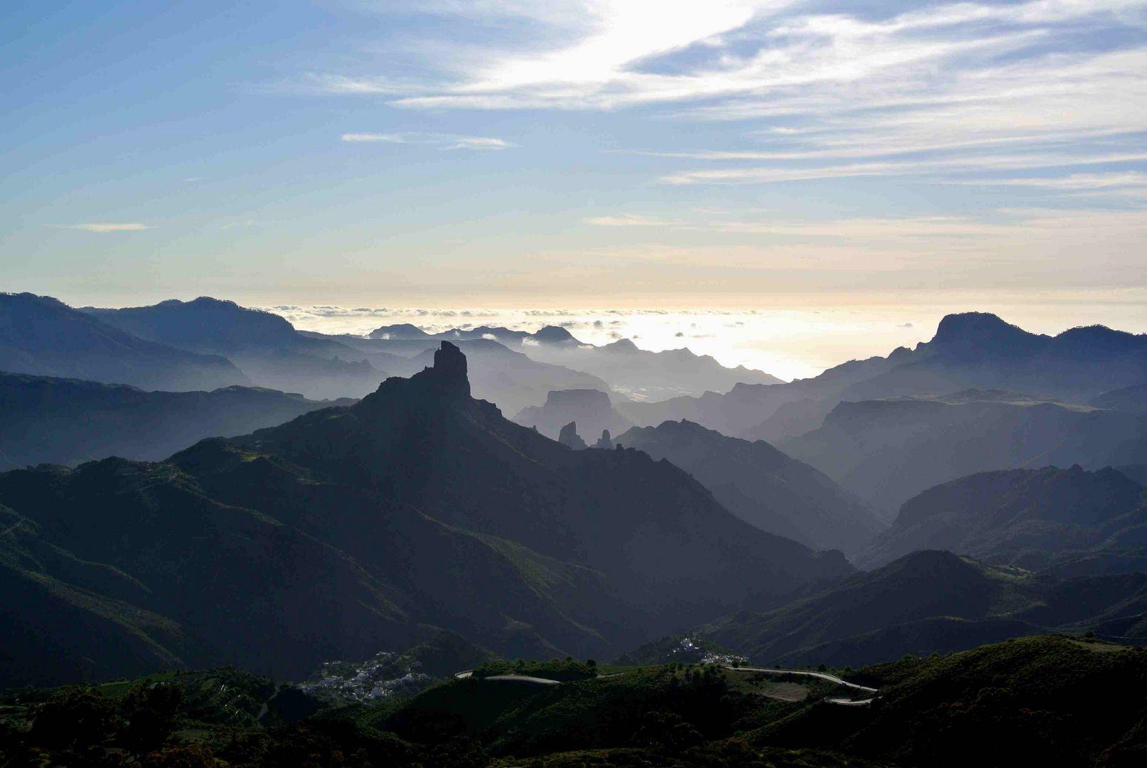 Pico Nublo auf Gran Canaria am Abend