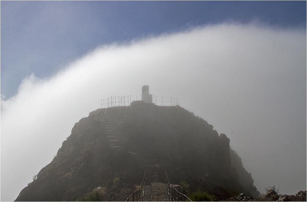 "Pico Ruivo im Sturm ""erobert"" :-))"