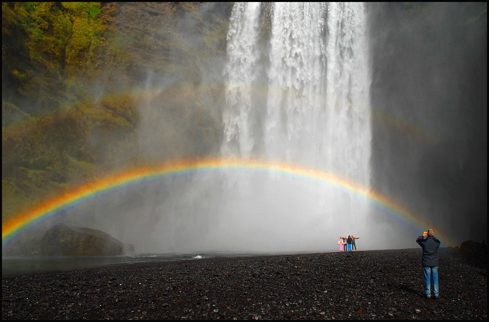 picture taking under the rainbow