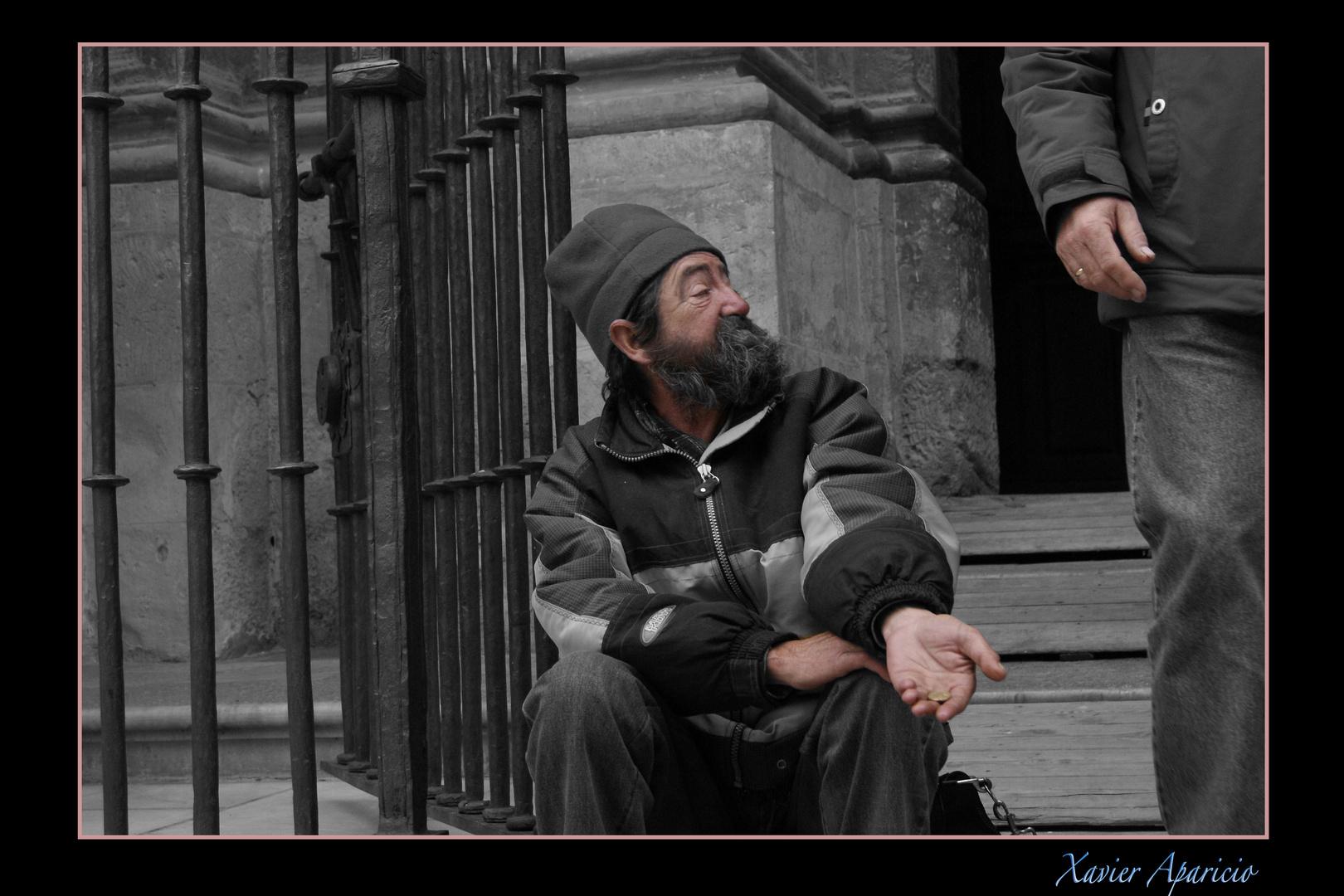 pidiendo en Granada