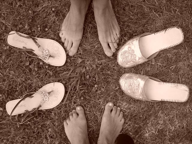 pieds en etoile